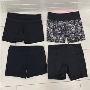 Lululemon black biker short bundle of 4